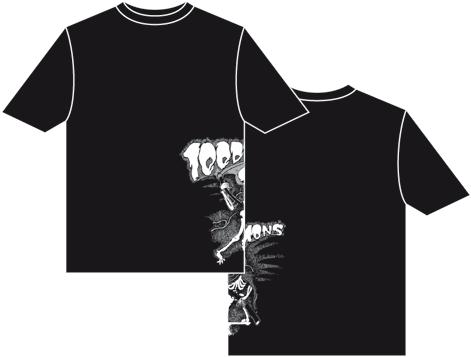 100 Demons Side Skeleton T-shirt