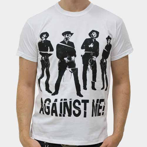 Against Me Cowboy White Mens Tshirt