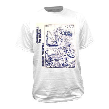 Sonic Youth Overkill Your Idols T-shirt