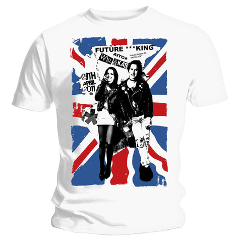 Sex Pistols Future King Kate and Wills Mens Tshirt