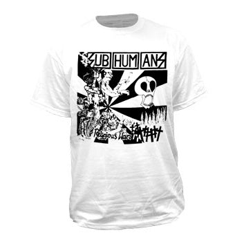 Subhumans Religious Wars White Mens Tshirt