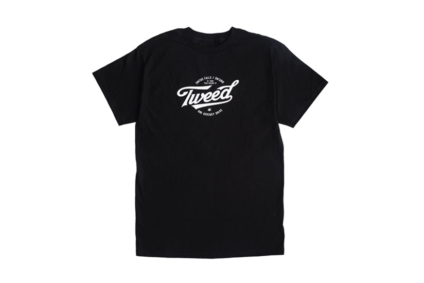 Tweed Full-Logo Short Sleeve T-Shirt