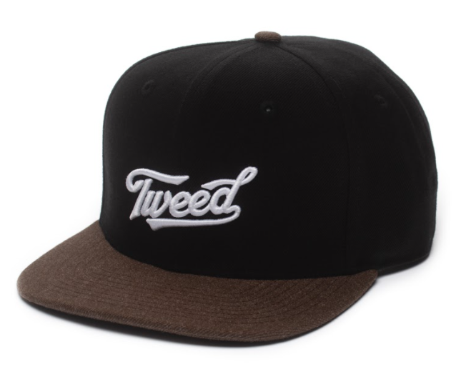 Tweed Contrast Snap Back Cap