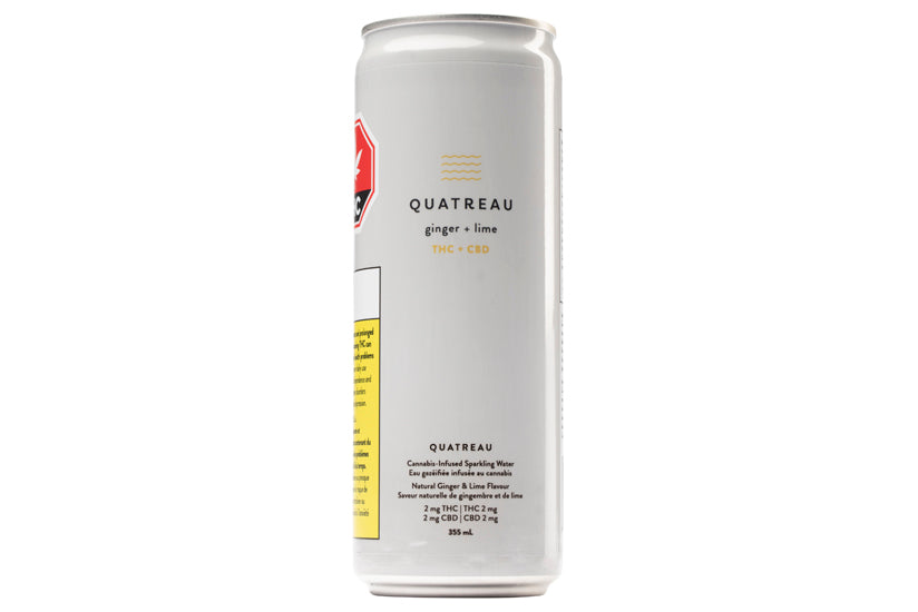 Quatreau Ginger and Lime Sparkling Water Drink