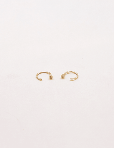 Pave Open Hoop Earrings