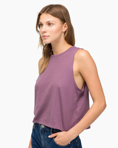 Richer Poorer - Women's Cropped Tank - Plum