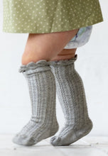 grey high knee baby socks