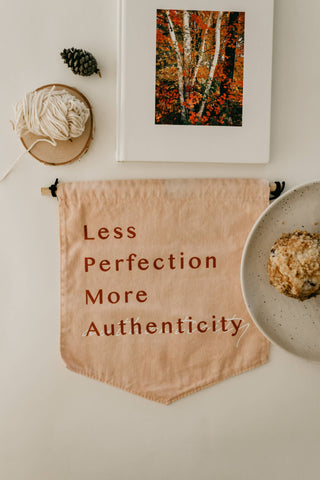 Authenticity Blush Banner