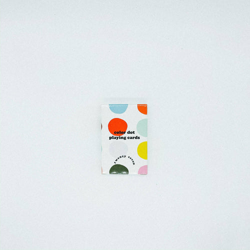 Twenty Seven - Color Dot Playing Cards