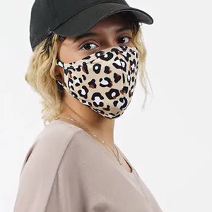 Leopard Print Curved Cloth Mask