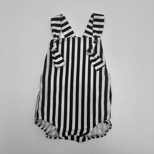 B + W Striped Romper