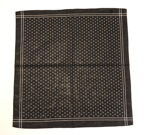 Black Patterned Bandana