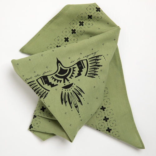 """Feel the Fear"" Bandana (Olive)"