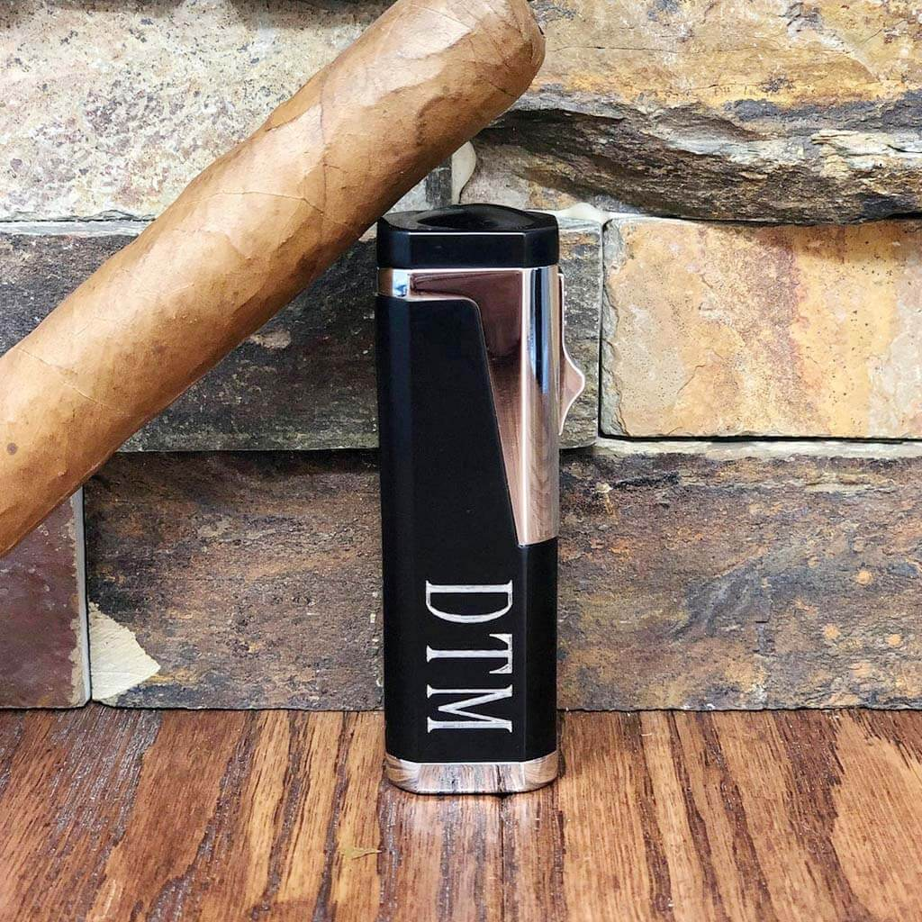 Personalized Triple Torch Cigar Lighter