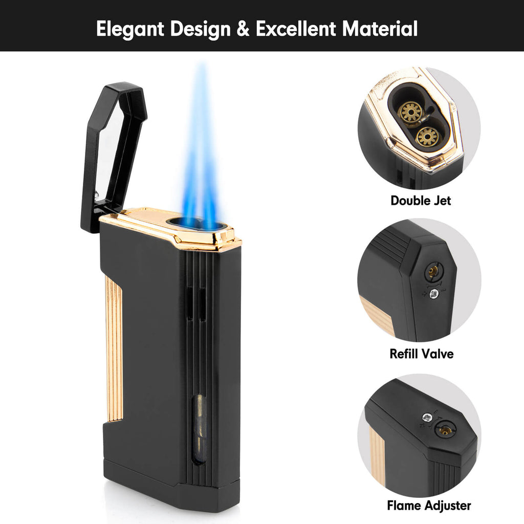 Double Jet Torch Lighter
