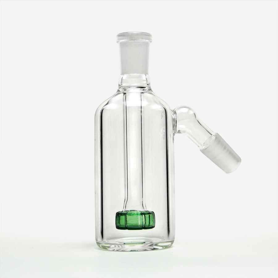 14mm Ash Catcher Green Percolator - INHALCO