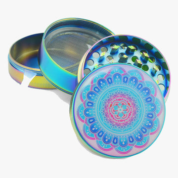 Herb Grinder Titanium Blue 2.5 inches- INHALCO