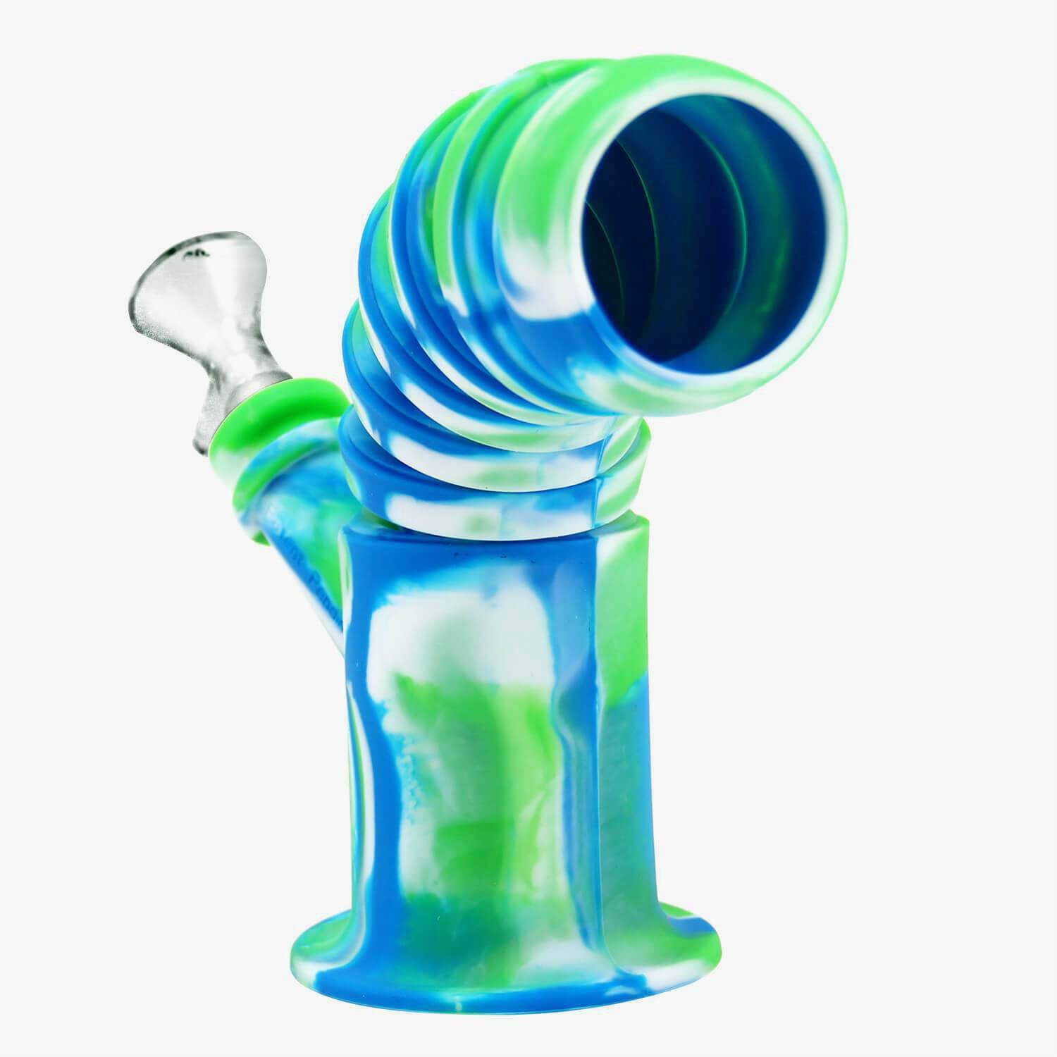 Quality Silicone Bong w// Ice Pinch Glass Bowl FREE EXPED US SHIPPING