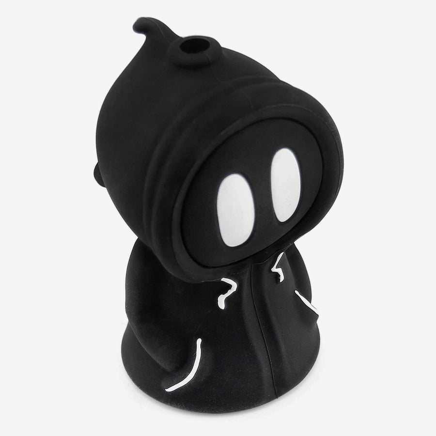 Silicone Bubbler Ghost Black - INHALCO
