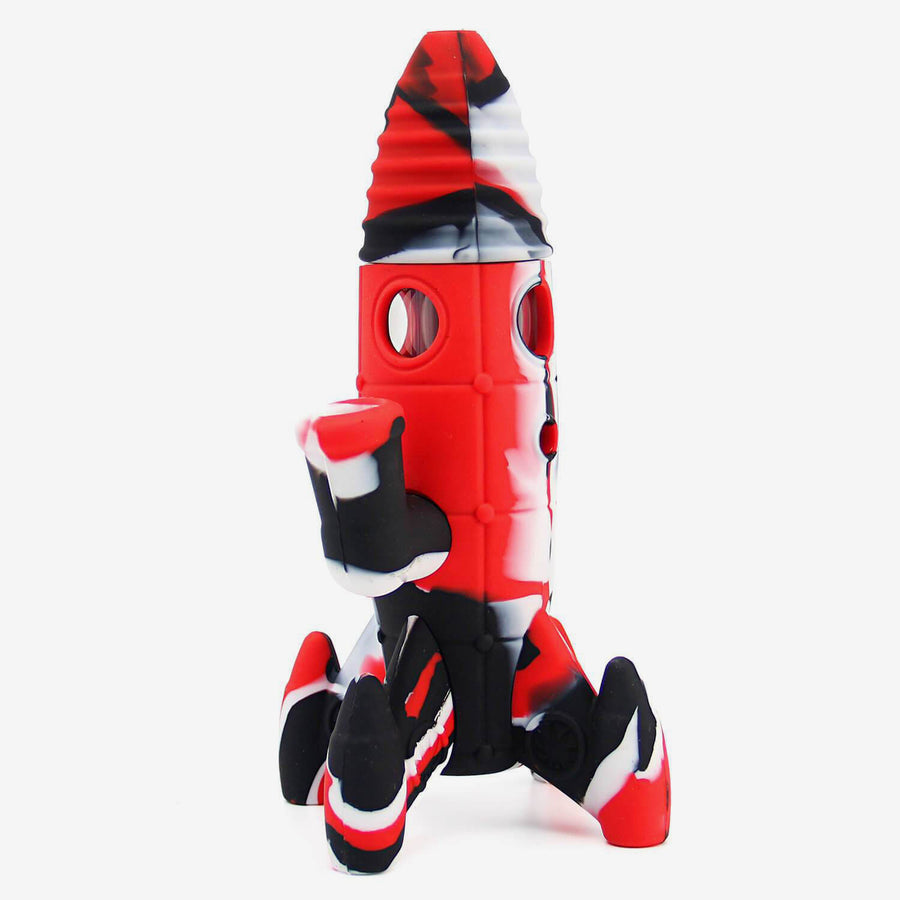 Silicone Bong Rocket Red- INHALCO