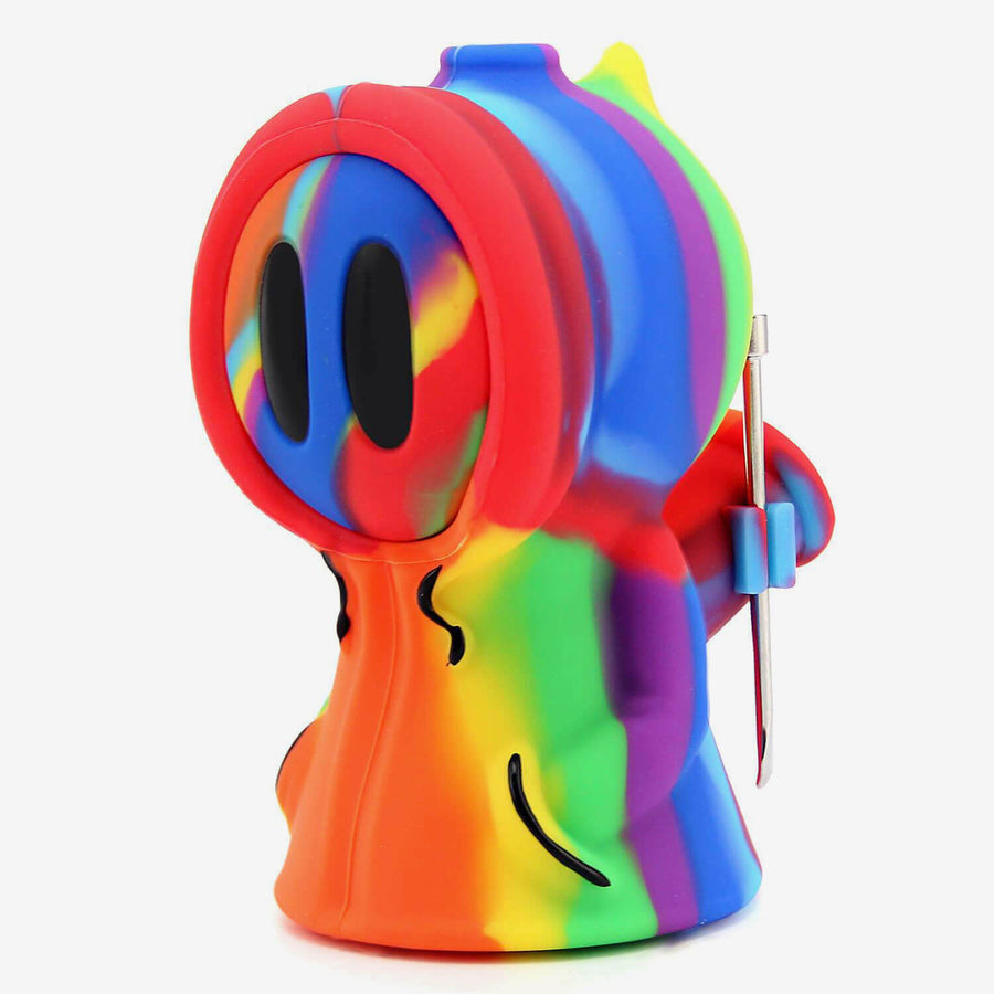 Silicone Bubbler Ghost Rainbow - INHALCO