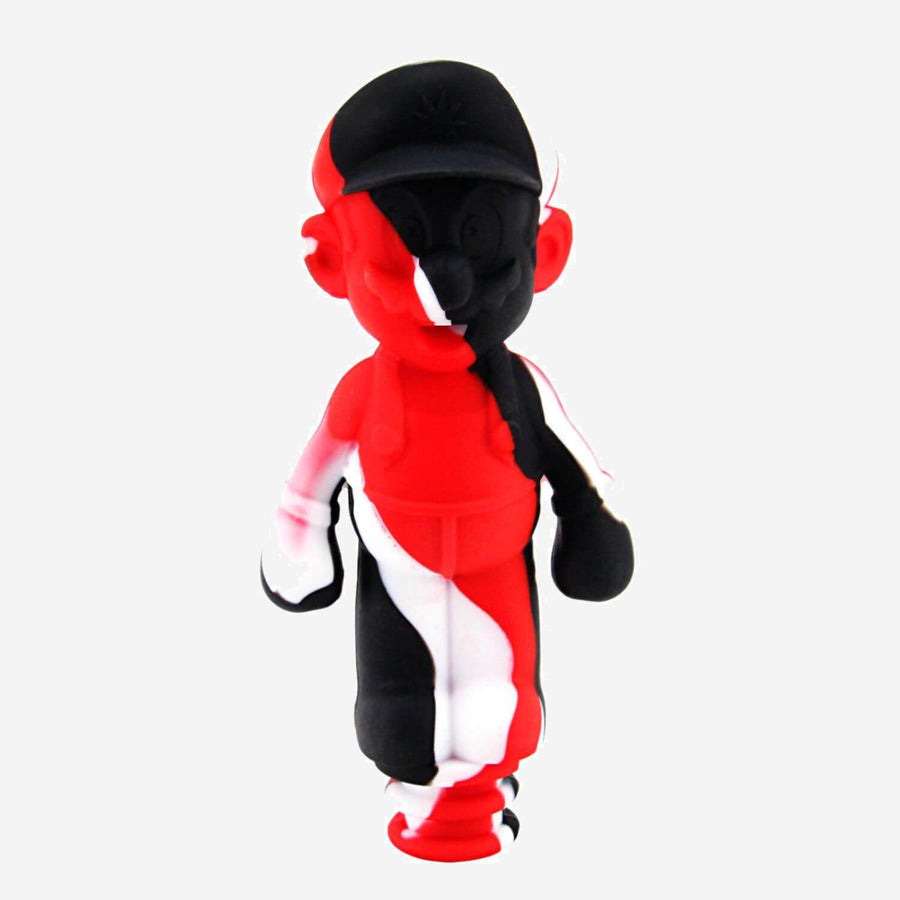 Silicone Mario Water Bong Red & Black - INHALCO