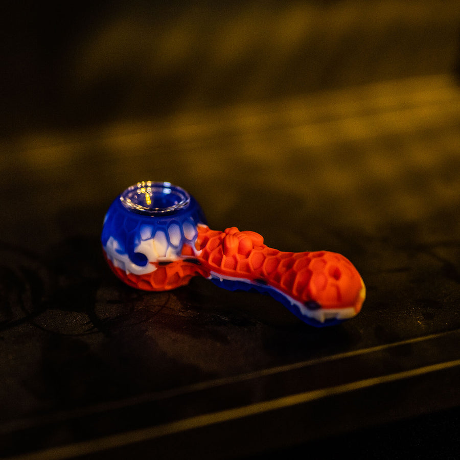 Silicone Pipe With Glass Bowl - INHALCO
