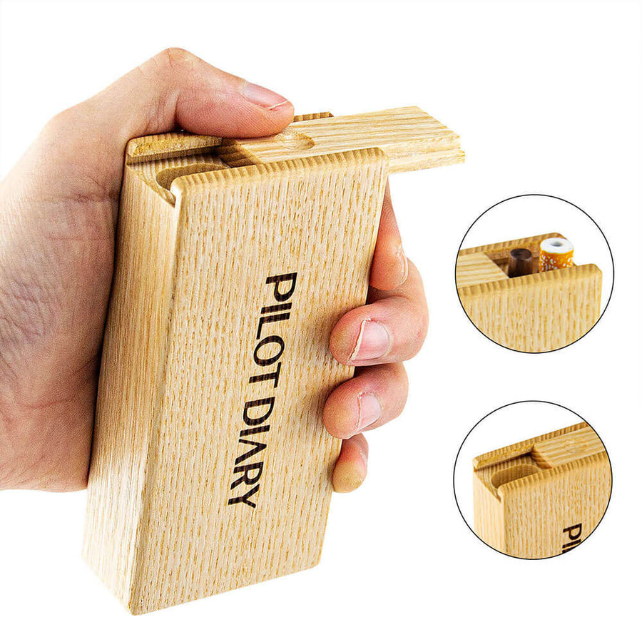 Wood Dugout With Cleaning Tool - INHALCO