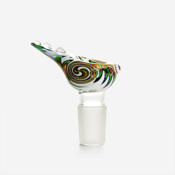 Multi-Colored Bong Bowl 18mm Multi - INHALCO