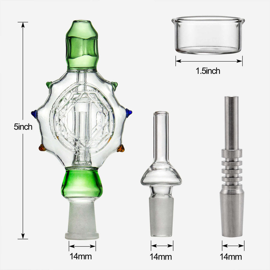 Glass Nectar Collector Dab Kit - INHALCO