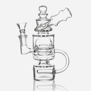 Inline Perc Recycler Water Pipe - INHALCO