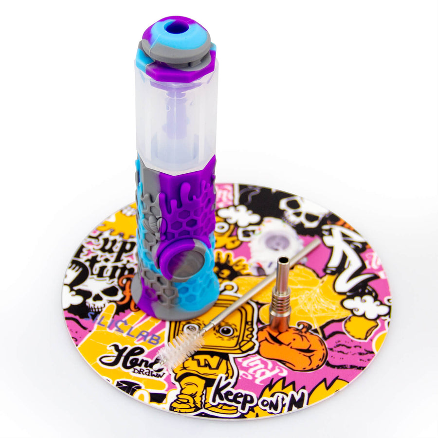 Silicone Honey Straw With Dab Mat - INHALCO