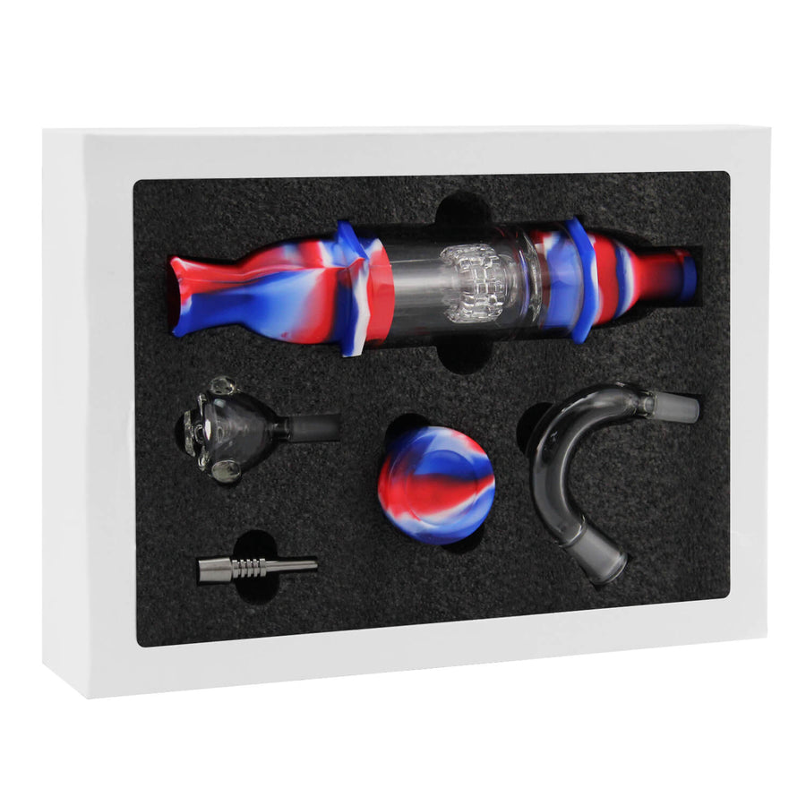 Silicone & Glass Nectar Collector Kit - INHALCO