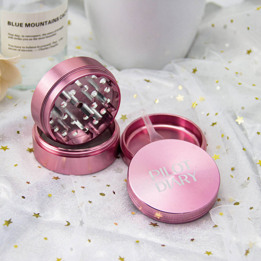 Pink Grinder 4 Pcs 2 inches- INHALCO
