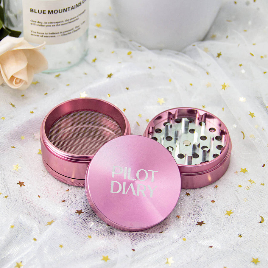 Pink Grinder 4 Pcs 2 inches - INHALCO