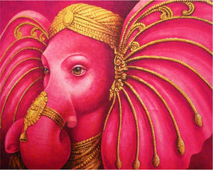 The Watchman's Bell - Ganesha in Pink and Gold