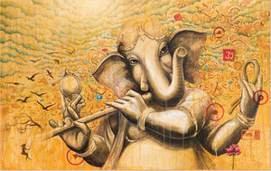 Lord Ganesh with Flute