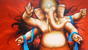 Ganesha-bollywood-style-huge-painting