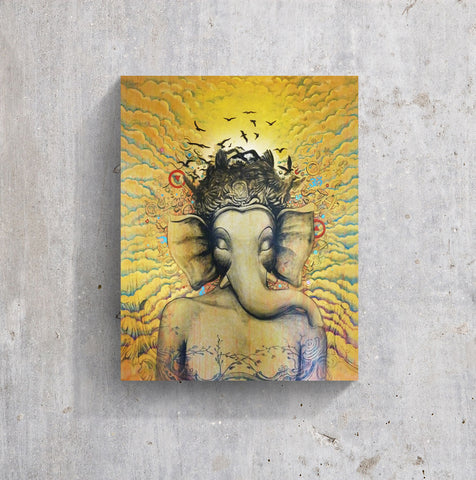 Meditation crown chakra opening wall art