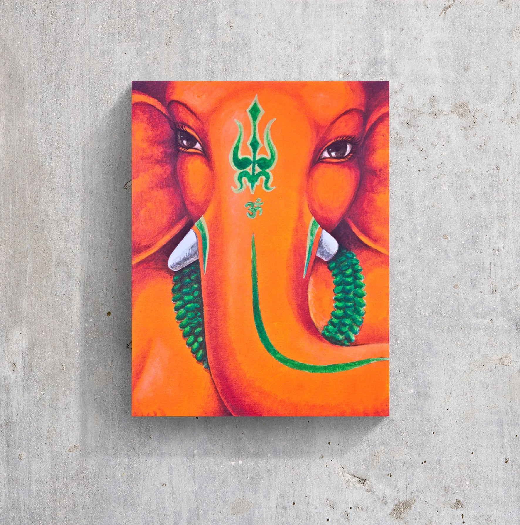 India elephant god face meditation pure eyes