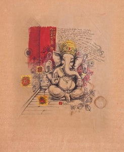 baby Ganesh line drawing