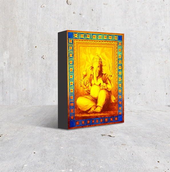 Traditional iconography Hindu god art bright colour