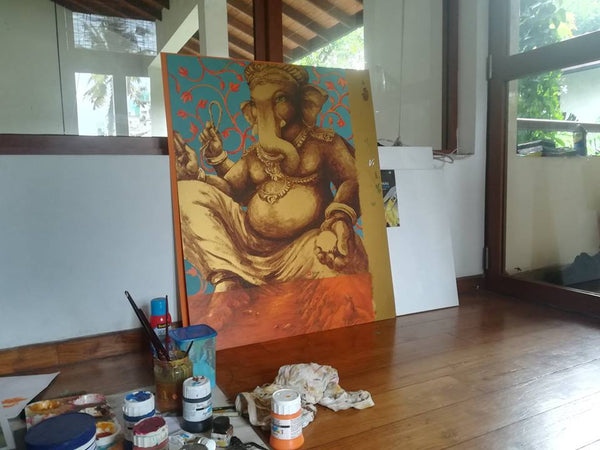 Ganeshism studio Ganesha rendering before framing