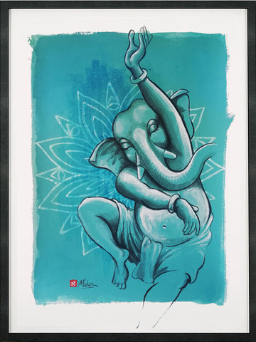 Lord Ganesh dancing recent drawing
