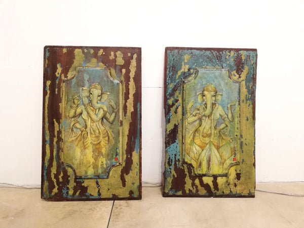 female-Hindu-goddess-on-antique-painted-wood