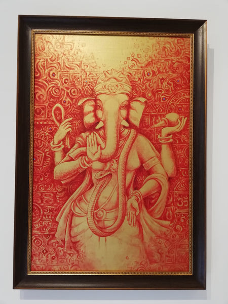 Framed original Ganesha female form
