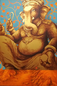 Royal Ganesh sitting nature mutation