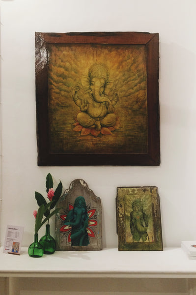 One of Ganeshism Studio Gallery wall