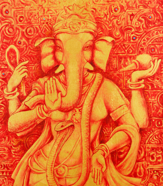 cropped painting of Vinayaki Ganesh female