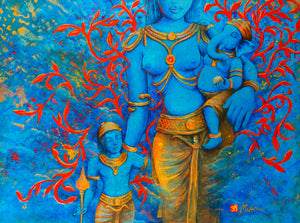 Hindu deities family universal energies